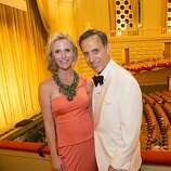Jennifer Siebel Newsom, left, and Dr. Alan Malouf stand for a photo during the 91st Season Opening Night of the San Francisco Opera at War Memorial Opera House in San Francisco, Calif. on Friday, Sept. 6, 2013.
