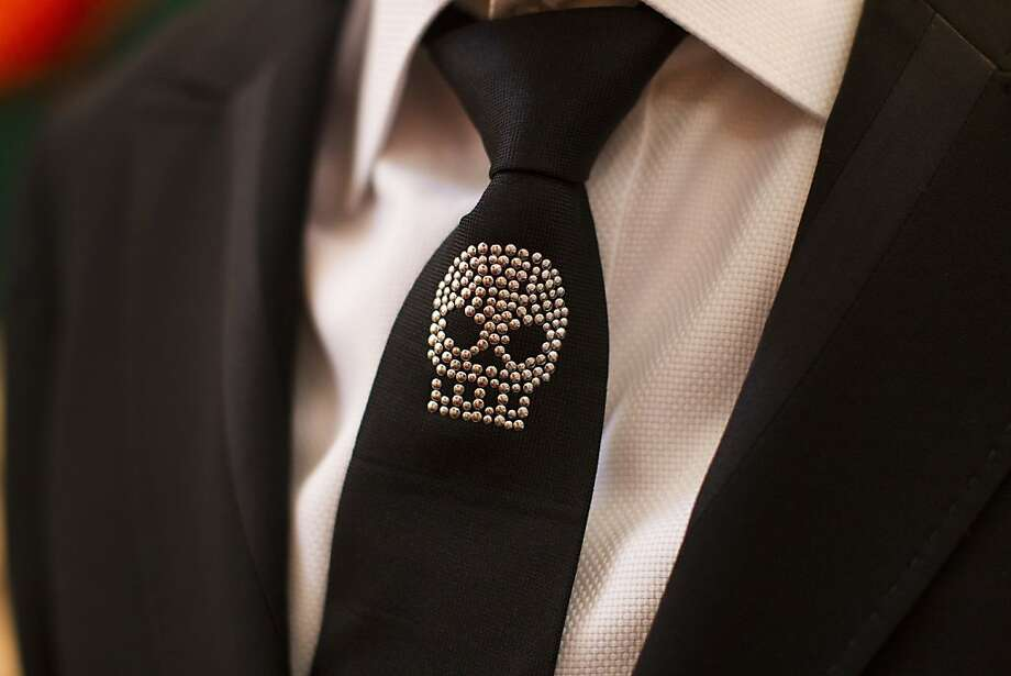 New York celebrity event planner Colin Cowie wears a crystal skull tie during the 91st Season Opening Night Gala of the San Francisco Opera at City Hall in San Francisco, Calif. on Friday, Sept. 6, 2013. Photo: Stephen Lam, Special To The Chronicle