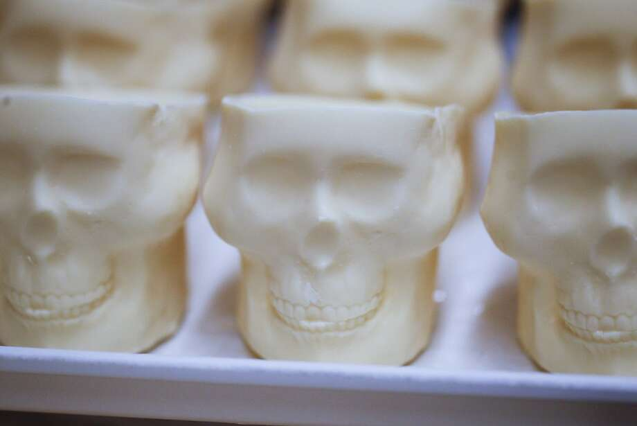 White chocolate skulls dessert pictured during the 91st Season Opening Night Gala of the San Francisco Opera at City Hall in San Francisco, Calif. on Friday, Sept. 6, 2013. Photo: Stephen Lam, Special To The Chronicle
