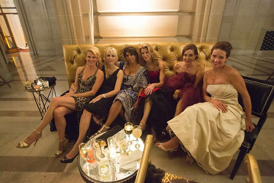 (L-R) Suzanne Meier, Kimberlee Sharp, Sujata Pherwani, Cynthia Deaver, Marybeth La Motte, and Anne Laury pose for a group photo during San Francisco Opera's 91st Season Opening Night after party at City Hall in San Francisco, Calif. on Saturday, Sept. 7, 2013. Photo: Stephen Lam, Special To The Chronicle