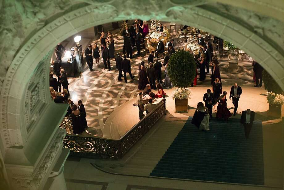 Attendees mingle at the City Hall Rotunda during the after party of the 91st Season Opening Night of the San Francisco Opera in San Francisco, Calif. on Saturday, Sept. 7, 2013. Photo: Stephen Lam, Special To The Chronicle