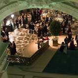 Attendees mingle at the City Hall Rotunda during the after party of the 91st Season Opening Night of the San Francisco Opera in San Francisco, Calif. on Saturday, Sept. 7, 2013.