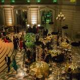A view of the City Hall Rotunda during the after party of the 91st Season Opening Night of the San Francisco Opera in San Francisco, Calif. on Saturday, Sept. 7, 2013.