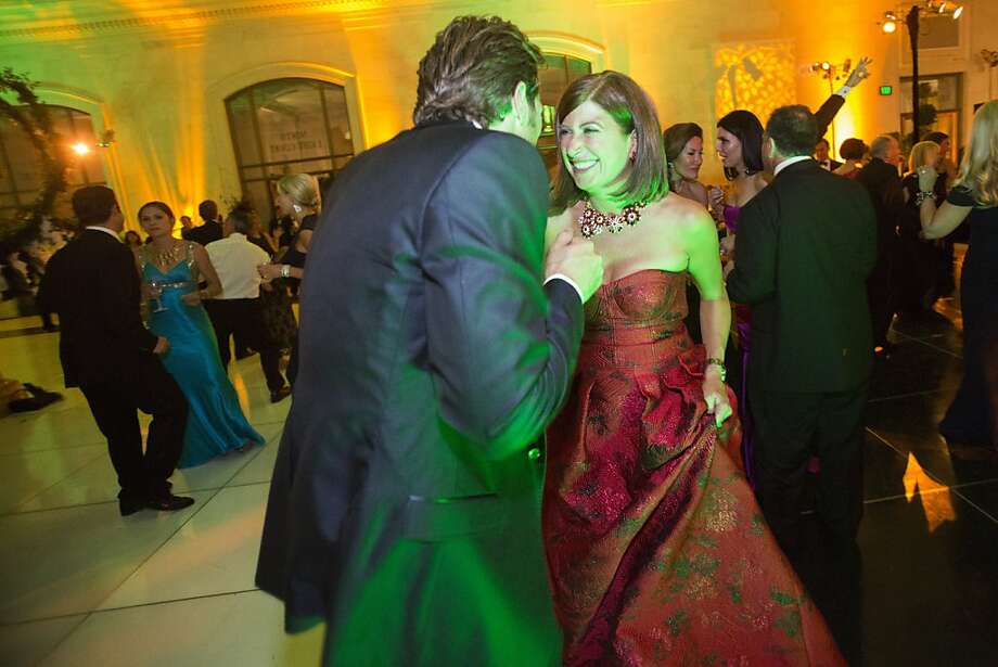 A couple dance during the after party of the 91st Season Opening Night of the San Francisco Opera at City Hall in San Francisco, Calif. on Saturday, Sept. 7, 2013. Photo: Stephen Lam, Special To The Chronicle