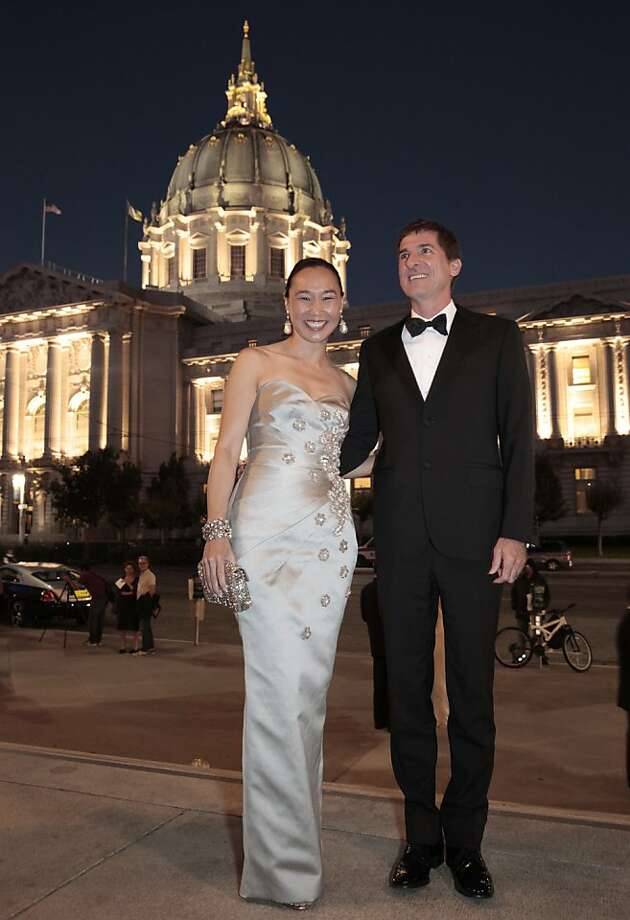 Carolyn Chang in Andrew Gn and her husband Patrick King in Lanvin at the 92nd San Francisco Season-Opening Opera Gala in San Francisco Calif. on Friday, Sept. 6, 2013. Photo: Alex Washburn, Special To The Chronicle