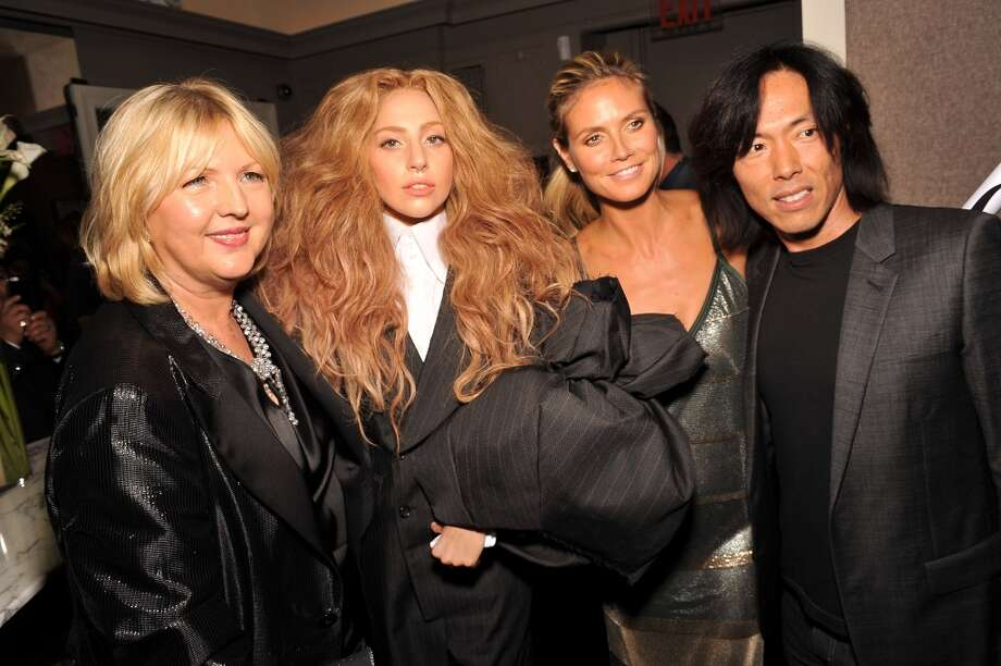 (L-R) Editor-in-Chief of The Daily Brandusa Niro, Lady Gaga, model Heidi Klum, and Creative Director at Harper's Bazaar Stephen Gan attend The Daily Front Row's Fashion Media Awards at Harlow on September 6, 2013 in New York City.  (Photo by D Dipasupil/Getty Images for The Daily Front Row) Photo: D Dipasupil