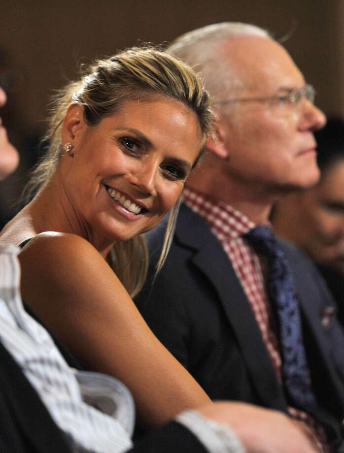 Heidi Klum and Tim Gunn attend The Daily Front Row's Fashion Media Awards at Harlow on September 6, 2013 in New York City.  (Photo by D Dipasupil/Getty Images for The Daily Front Row) Photo: D Dipasupil