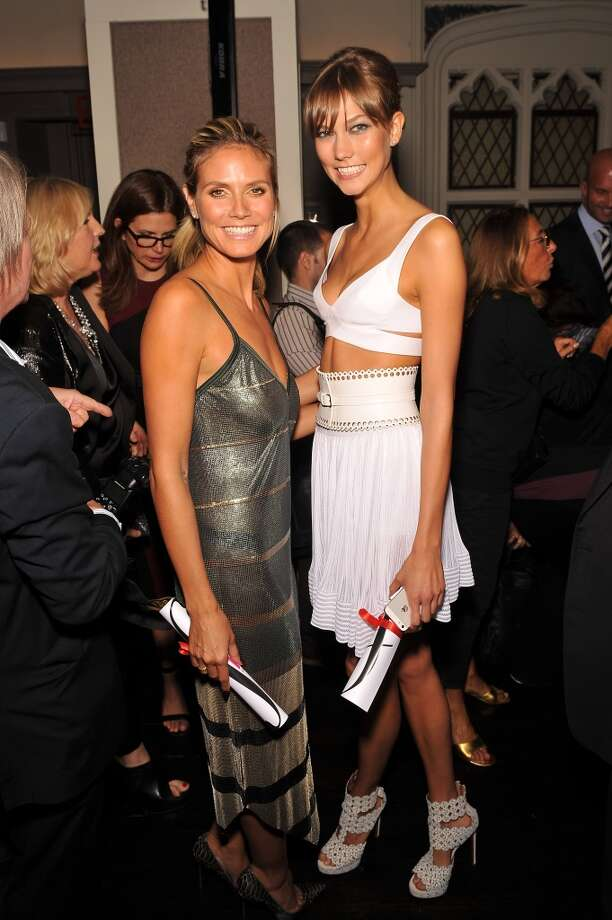 (L-R) Models Heidi Klum and Karlie Kloss attend The Daily Front Row's Fashion Media Awards at Harlow on September 6, 2013 in New York City.  (Photo by D Dipasupil/Getty Images for The Daily Front Row) Photo: D Dipasupil
