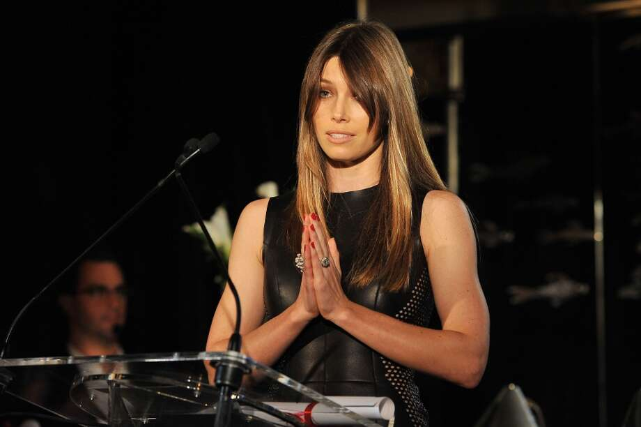 Jessica Biel speaks onstage at The Daily Front Row's Fashion Media Awards at Harlow on September 6, 2013 in New York City.  (Photo by D Dipasupil/Getty Images for The Daily Front Row) Photo: D Dipasupil