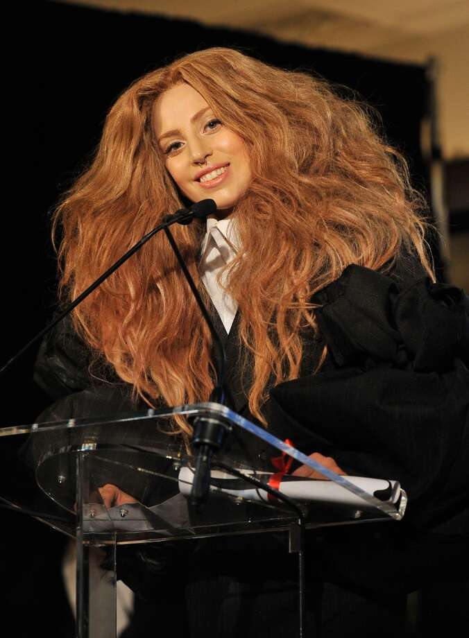 Lady Gaga speaks at The Daily Front Row's Fashion Media Awards at Harlow on September 6, 2013 in New York City.  (Photo by D Dipasupil/Getty Images for The Daily Front Row) Photo: D Dipasupil
