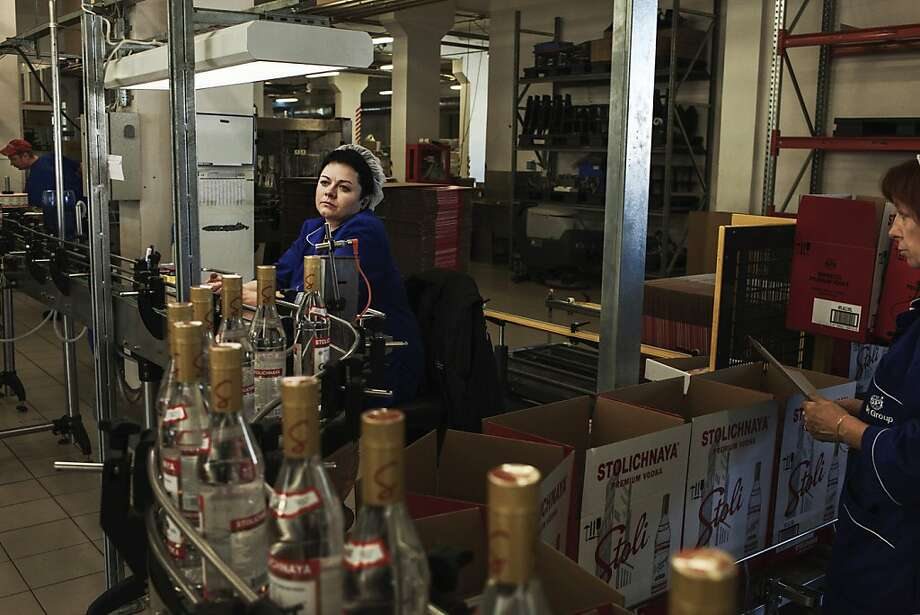 The Stolichnaya vodka factory is in Riga, Latvia. A boycott of vodka by gay rights activists critical of Russia has focused on Stolichnaya, but it is blended, filtered and bottled in Latvia. Photo: Tomasz Lazar, New York Times