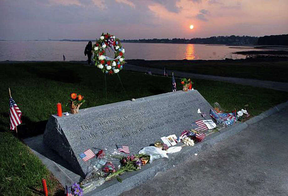 The state's 9/11 memorial at Sherwood Island State Park in Westport. Photo: File Photo / Westport News