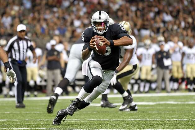 Terrelle Pryor had a lackluster preseason, but still won the starting job. Photo: Layne Murdoch, Associated Press