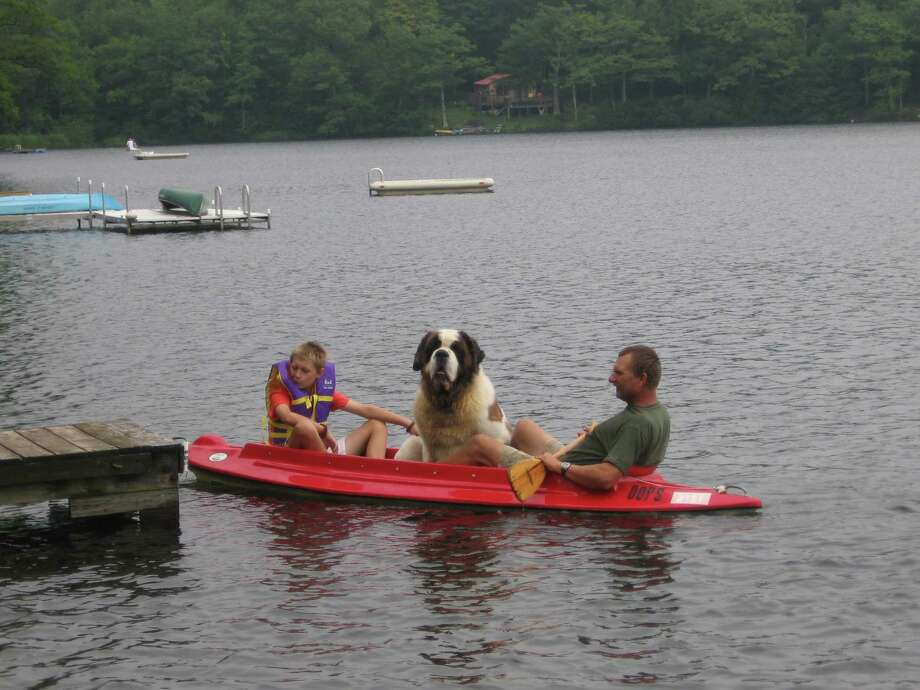 "A trio of kayakers on Crystal Lake, Rensselaerville, brought smiles to everyone at Delmar resident Nancy Lynk's family camp on Labor Day ? and sent her running for her camera. (Nancy Lynk) Got more summer shots? The Times Union would like to feature photos from your summer, and summers, gone by. See the Reader Photos link on timesunion.com and send your photos to the ""Summer"" category."