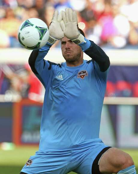 Dynamo goalkeeper Tally Hall says part of the reason for the slump is the team's lax defense. Photo: Jonathan Daniel, Staff / 2013 Getty Images