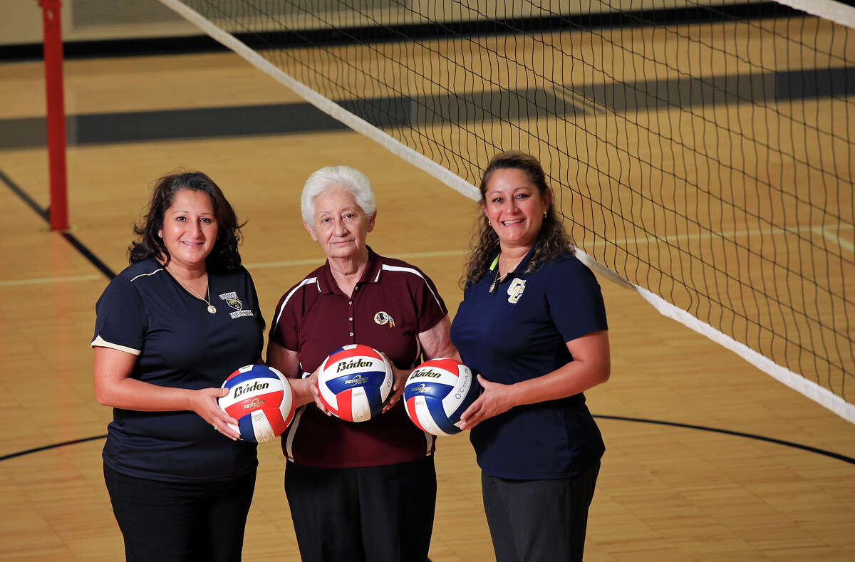 O'Connor high school volleyball coach Yami Garcia (right) with her mother Ninfa Garcia (center) and sister, Edison high school volleyball and girls soccer coach Denise Cardenas, in 2013.