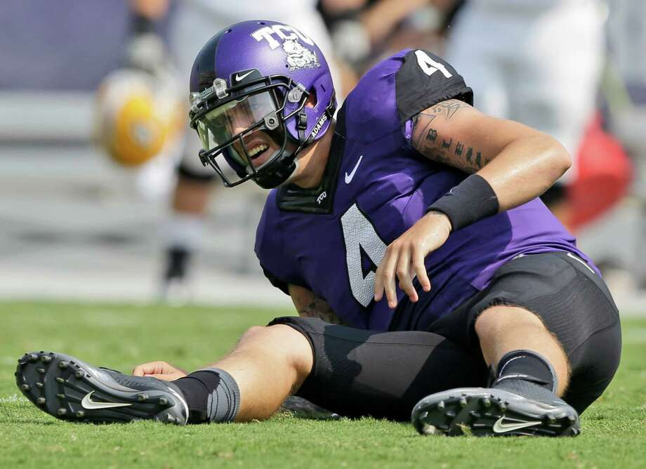 TCU quarterback Casey Pachall suffered an injury to his forearm that forced him from Saturday's win over Southeastern Louisiana and will make him miss at least next week's game against Texas Tech. Photo: LM Otero, STF / AP