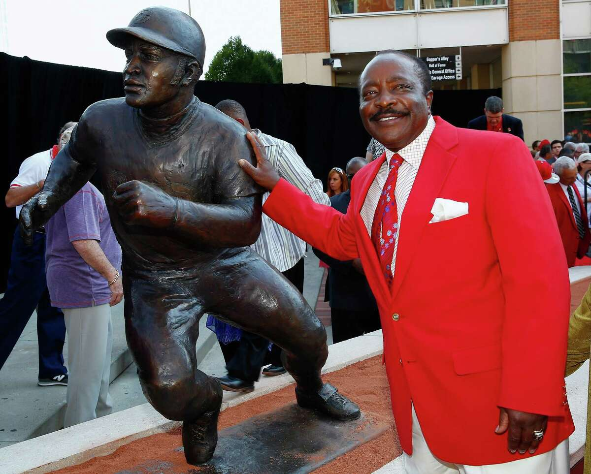 Joe Morgan, a key member of the Big Red Machine after being traded by the Astros, is beaming with pride at the unveiling of a statue depicting him outside of Cincinnati's Great American Ball Park.