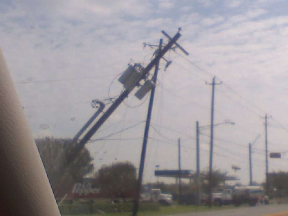 This was the scene on FM 518 in Pearland. Photo: Cameron Covington
