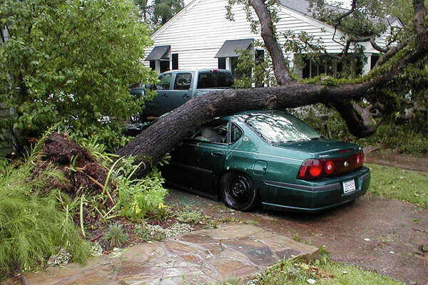 Damage from Hurricane Ike.