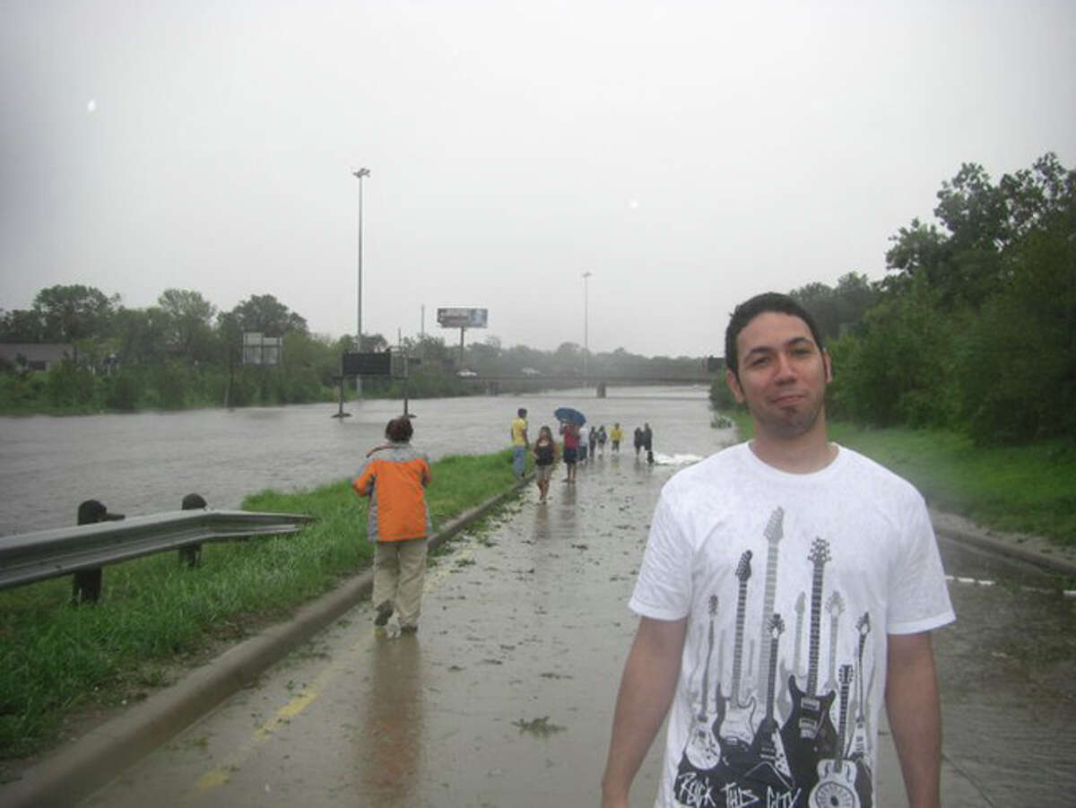 Behind me is I-45 just north of downtown near North Main.