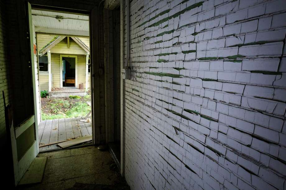 The rear exit of the guard house in Washington's ghost town of Lester. Photo: JORDAN STEAD, SEATTLEPI.COM / SEATTLEPI.COM