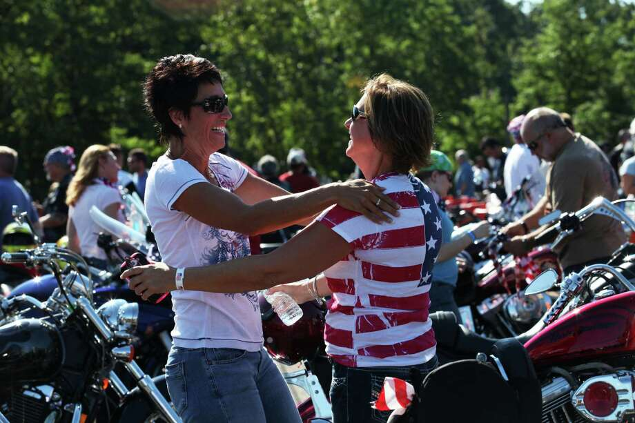 Riders prepare to start the 13th annual CT United Ride, the largest 9/11 Tribute in CT, in Norwalk on Sunday, Sept. 8, 2013. Photo: BK Angeletti, B.K. Angeletti / Connecticut Post freelance B.K. Angeletti