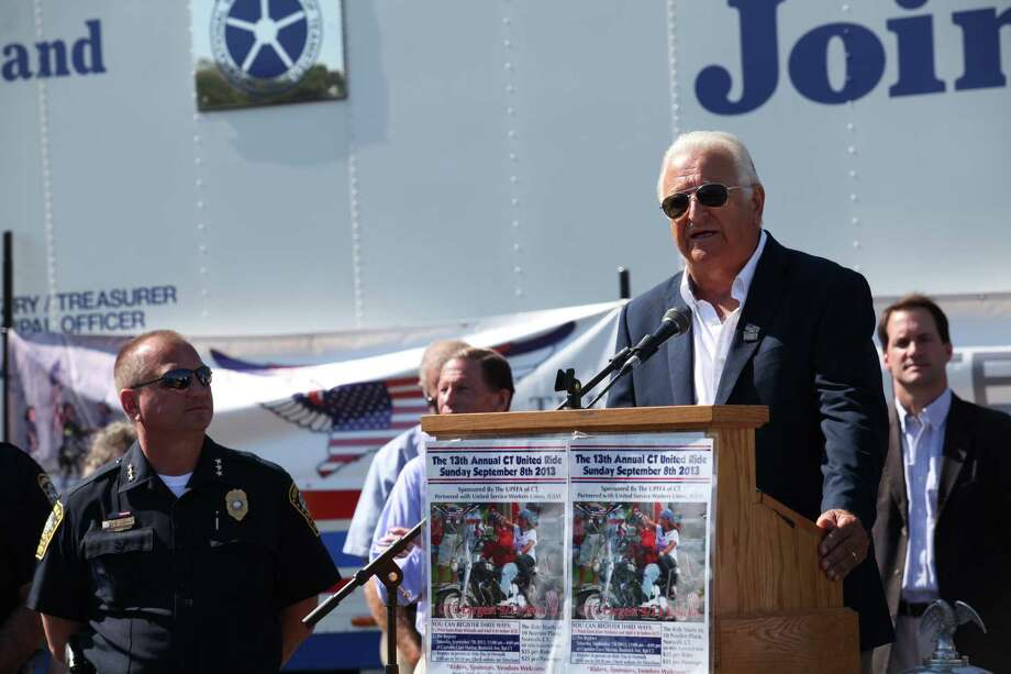Norwalk Mayor Richard Moccia speaks at the 13th annual CT United Ride, the largest 9/11 Tribute in CT, in Norwalk on Sunday, Sept. 8, 2013. Photo: BK Angeletti, B.K. Angeletti / Connecticut Post freelance B.K. Angeletti