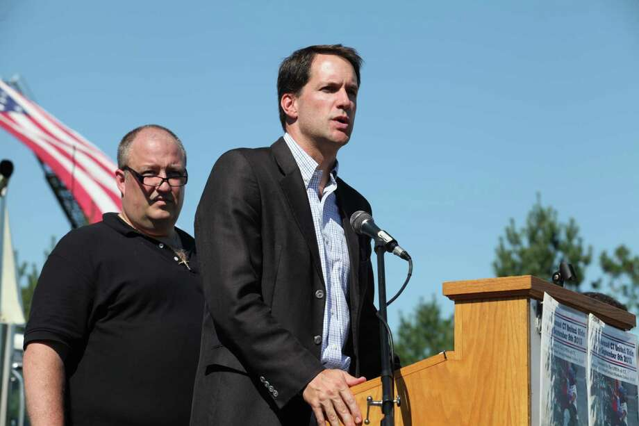 Congressman Jim Himes speaks at the 13th annual CT United Ride, the largest 9/11 Tribute in CT, in Norwalk on Sunday, Sept. 8, 2013. Photo: BK Angeletti, B.K. Angeletti / Connecticut Post freelance B.K. Angeletti