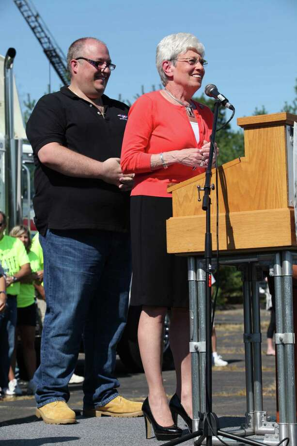 Lt. Governor Nancy Wyman speaks at the 13th annual CT United Ride, the largest 9/11 Tribute in CT, in Norwalk on Sunday, Sept. 8, 2013. Photo: BK Angeletti, B.K. Angeletti / Connecticut Post freelance B.K. Angeletti