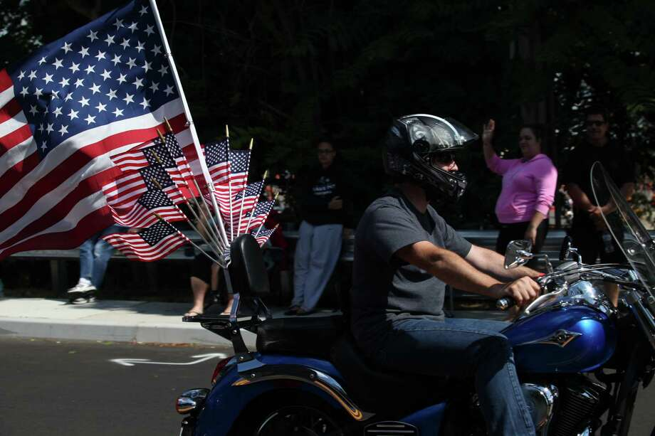 Riders start the 13th annual CT United Ride, the largest 9/11 Tribute in CT, in Norwalk on Sunday, Sept. 8, 2013. Photo: BK Angeletti, B.K. Angeletti / Connecticut Post freelance B.K. Angeletti