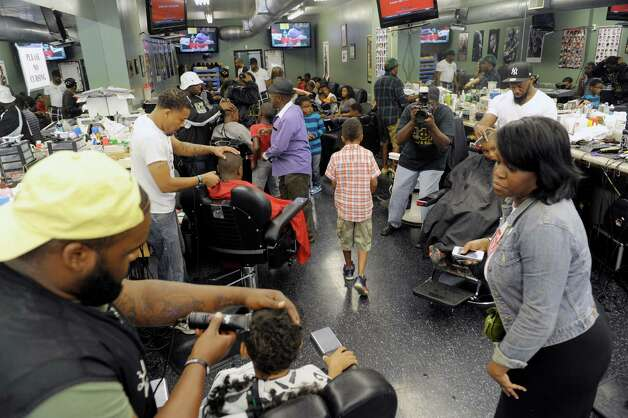 Barber Shop Albany Ny : Barber Shop on Central Ave. on Sunday, Sept. 8, 2013 in Albany, NY ...