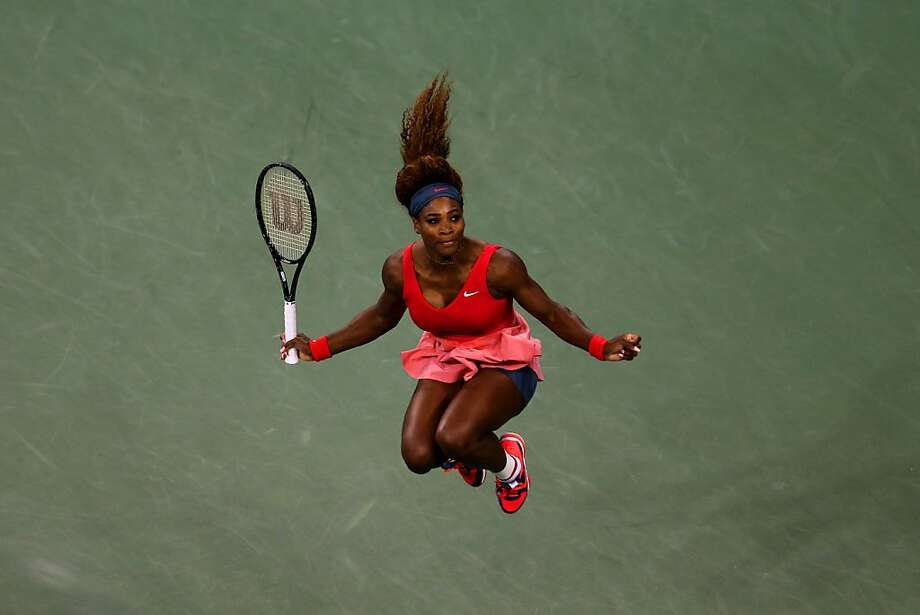 NEW YORK, NY - SEPTEMBER 08:  Serena Williams of the United States of America celebrates winning her women's singles final match against Victoria Azarenka of Belarus on Day Fourteen of the 2013 US Open at the USTA Billie Jean King National Tennis Center on September 8, 2013 in the Flushing neighborhood of the Queens borough of New York City.  (Photo by Matthew Stockman/Getty Images) Photo: Matthew Stockman, Getty Images