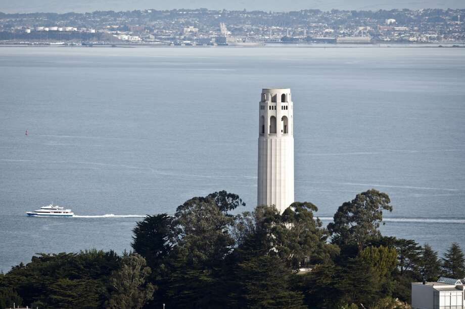 Claim: Coit Tower is supposed to resemble a fire nozzle. Photo: Russell Yip, The Chronicle