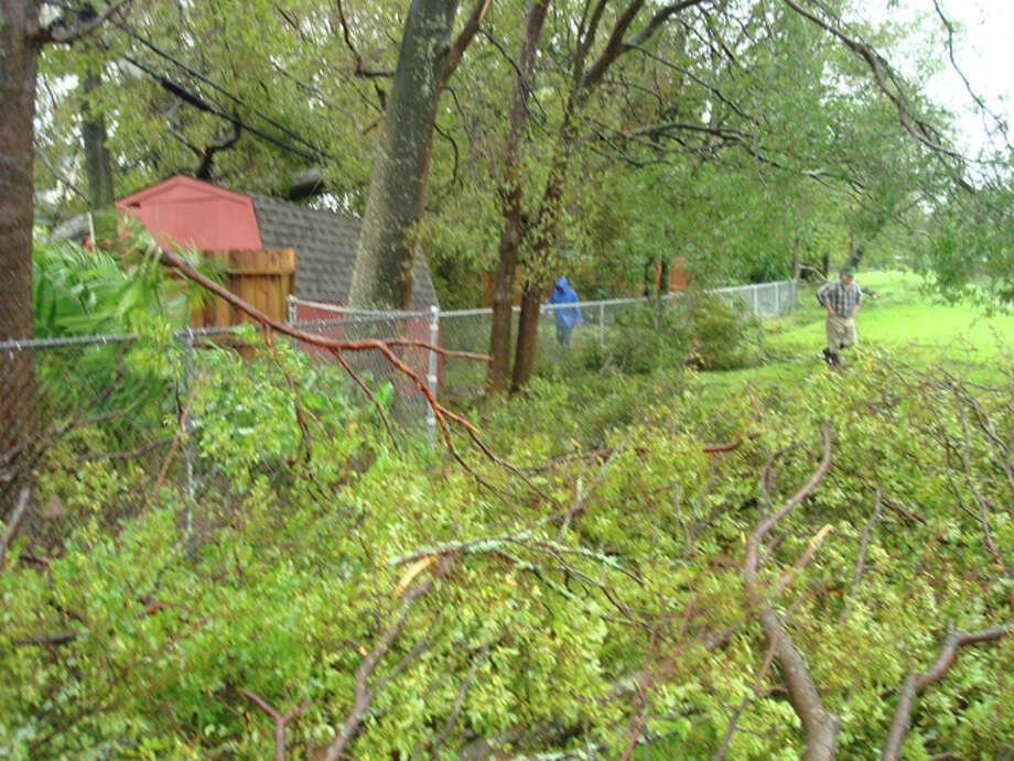 Damage from Hurricane Ike. Photo: C.M. Blair