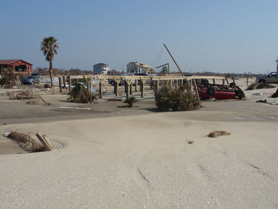 This is what was left of our home on the Bolivar Peninsula after Ike.  Taken 09-28-05. Photo: Dianne Ledet