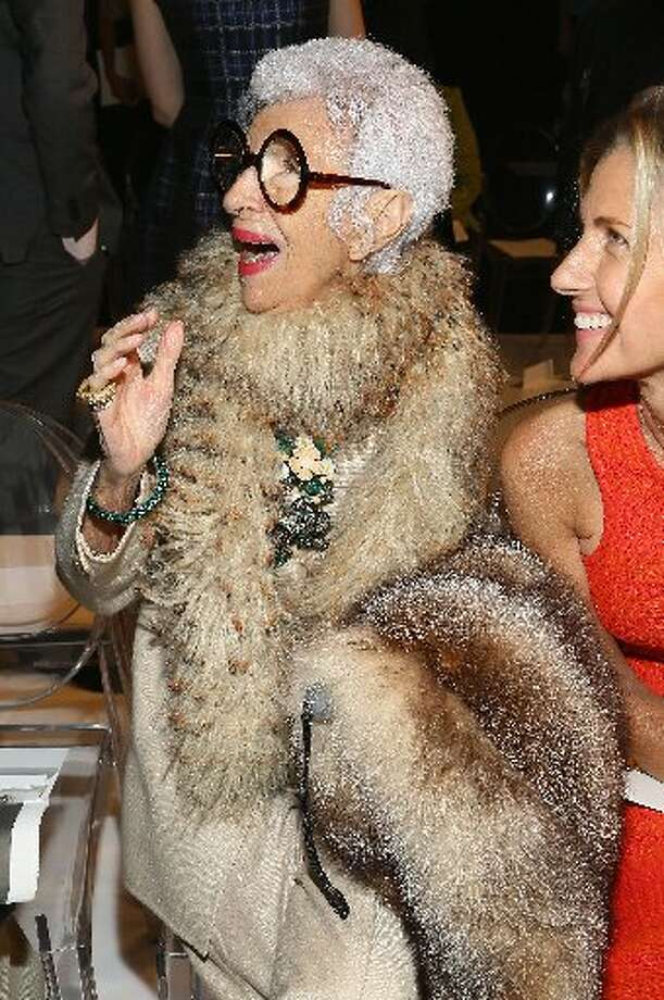 Iris Apfel attends the Ralph Rucci fashion show Sept. 8 at Lincoln Center. Photo: Astrid Starwiarz, Getty