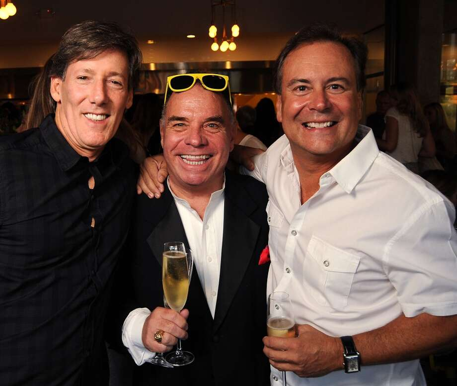 From left: David Harris, John Bebout and Chip Nash at the Coppe Osteria Opening benefitting Texas Children's Cancer Center. Photo: Dave Rossman, For The Houston Chronicle