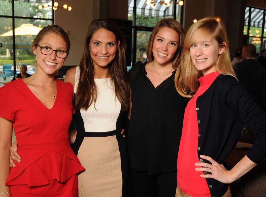 From left: Ashley Rosenthal, Leigh Dalio, Anna Schuster and Rachel Kelting at the Coppe Osteria Opening benefitting Texas Children's Cancer Center. Photo: Dave Rossman, For The Houston Chronicle