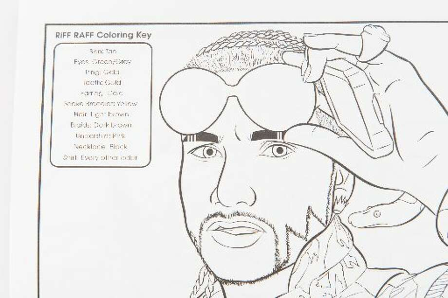 "An image of Riff Raff from ""Bun B's Rap Coloring and Activity Book."" (Chronicle Photo/Michael Paulsen)"