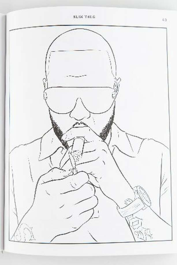 "An image of Slim Thug from ""Bun B's Rap Coloring and Activity Book."" (Chronicle Photo/Michael Paulsen)"