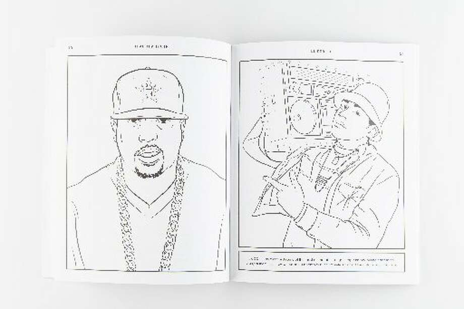 "Images from ""Bun B's Rap Coloring and Activity Book."" (Chronicle Photo/Michael Paulsen)"