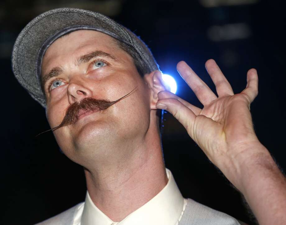Gregory McNamara competes in the English Moustache division. Photo: Susan Poag, Associated Press