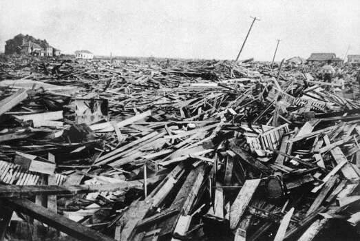 A large part of the city of Galveston, Texas was reduced to rubble, as shown in this September, 1900 file photo, after being hit by a surprise hurricane Sept. 8, 1900. More than 6,000 people were killed and 10,000 left homeless from the Great Storm which remains the worst natural disaster in U.S. history. Photo: AP / AP