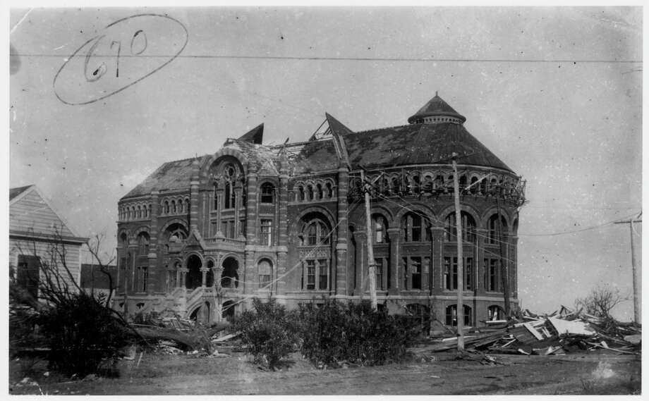 September 1900: Ruins of the Ashbel Smith Building, also known as 'Old Red,' after being hit on Sept. 8, 1900, when a hurricane of 100-plus miles per hour and towering tidal waves crossed the Galveston, Texas island and destroyed or damaged most of the city, killing thousands. 'Old Red' still stands today. Photo: UNKNOWN, ROSENBERG LIBRARY / ROSENBERG LIBRARY