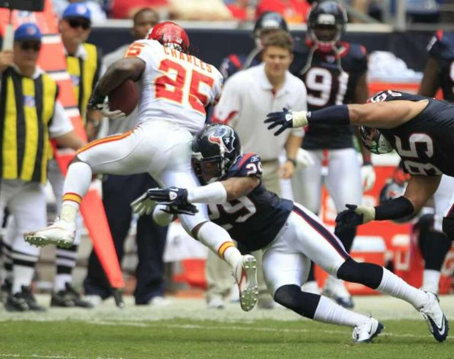 Week Seven, October 20, at Chiefs. The Show-Me Series shifts to the road.  Texas-ex Jamal Charles enjoys less than friendly fire.  Texans push into the off week at 5-2.