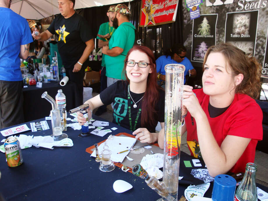 These medical cannabis collective members offered up free dabs to passing potheads.
