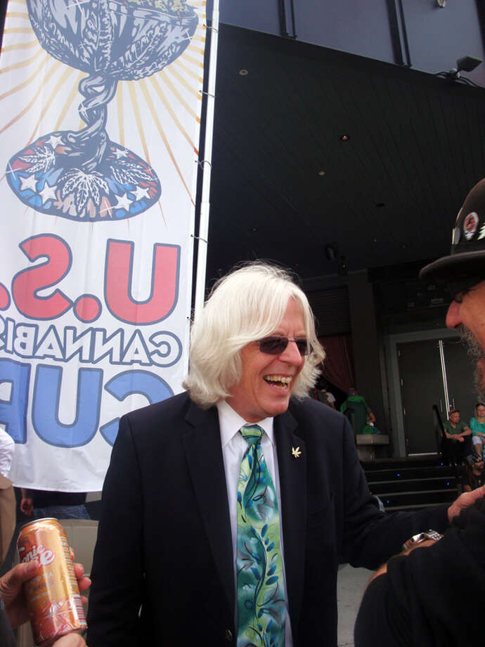 NORML Founder Keith Stroup says this is a great day to behold while sharing a laugh with well wishers.