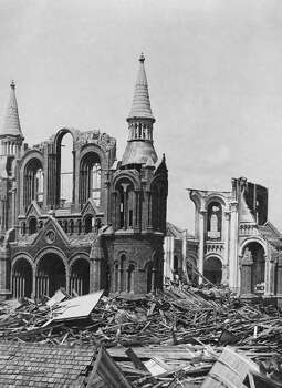 The ruins of the Sacred Heart Church, Galveston, Texas, after the category 4 Hurricane which struck on 8th September 1900. (Photo by FPG/Hulton Archive/Getty Images) Photo: FPG, Getty Images