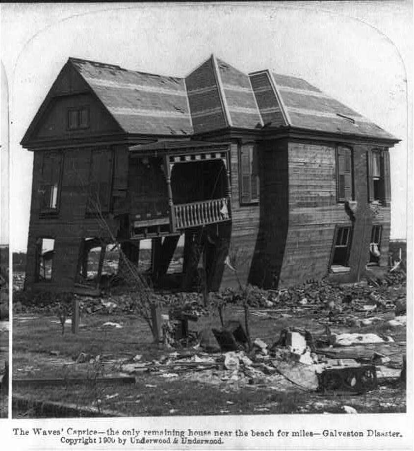 September 1900: Waves Caprice in the aftermath of the 1900 Galveston hurricane. Photo: U.S. Library Of Congress